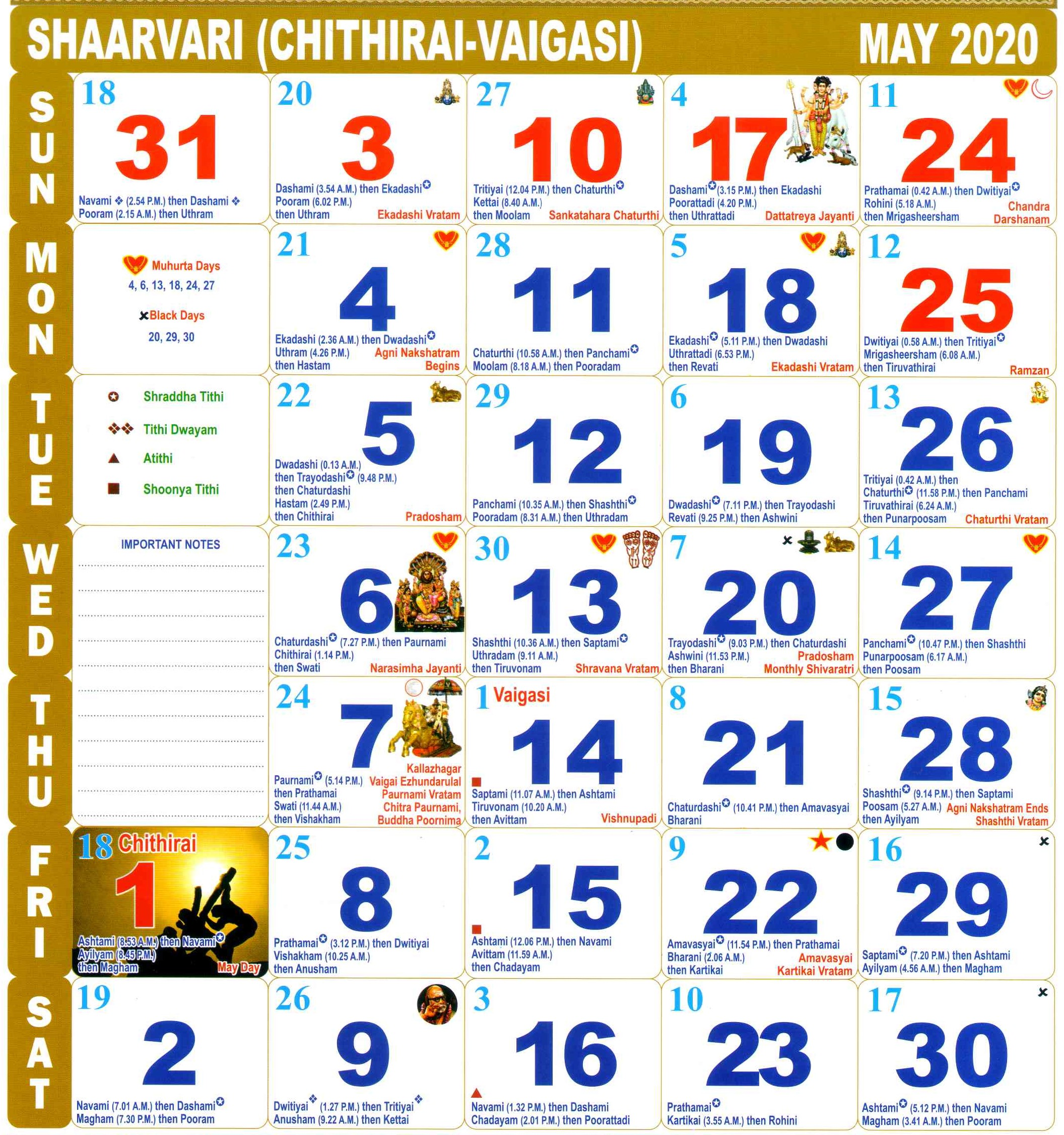 Tamil Calendar Monthly 2021 Pictures